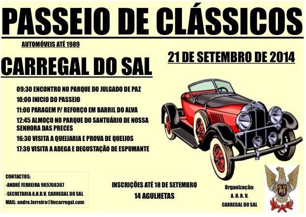 PASSEIO DE CLÁSSICOS – 21 SETEMBRO 2014